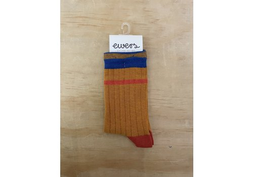 Ewers Ewers - Socks Rib Streep 1640 oker