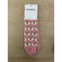 Ewers - Anti-slip socks hert roze