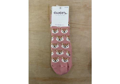 Ewers Ewers - Anti-slip socks hert roze