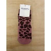 Ewers - Anti-slip sok 1719 Dusty Rose leopard