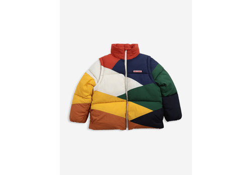 Bobo Choses Bobo choses - Multi color block padded jacket - maat 4/5 year