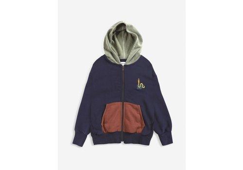 Bobo Choses Bobo choses - Scholar worm zipped hoodie