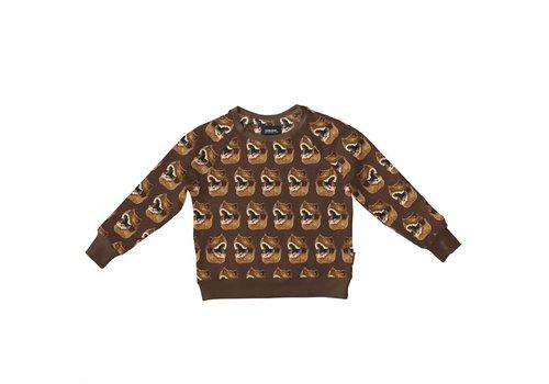 Snurk Snurk - Dino brown sweater kids