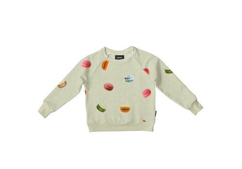 Snurk Snurk - Macarons green sweater kids