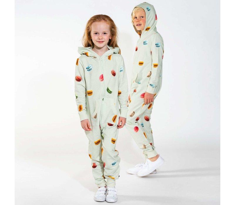 Snurk - Macarons green onesie kids