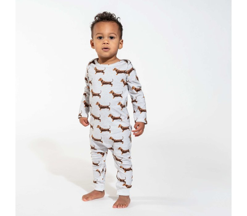 Snurk - James grey jumpsuit babies
