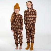 Snurk - Dino brown onesie kids