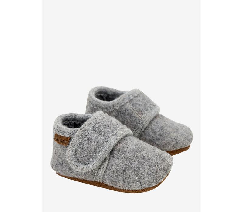 Enfant - Slofjes Wol Baby grey melange 1230