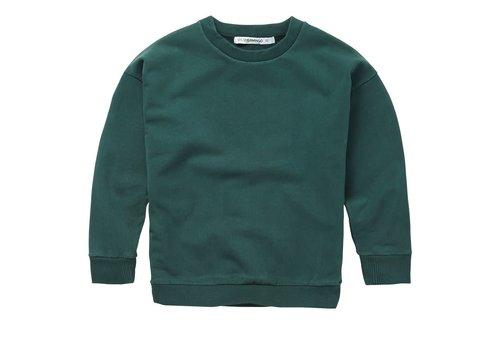Mingo Mingo - Sweater deep emerald sweat brushed