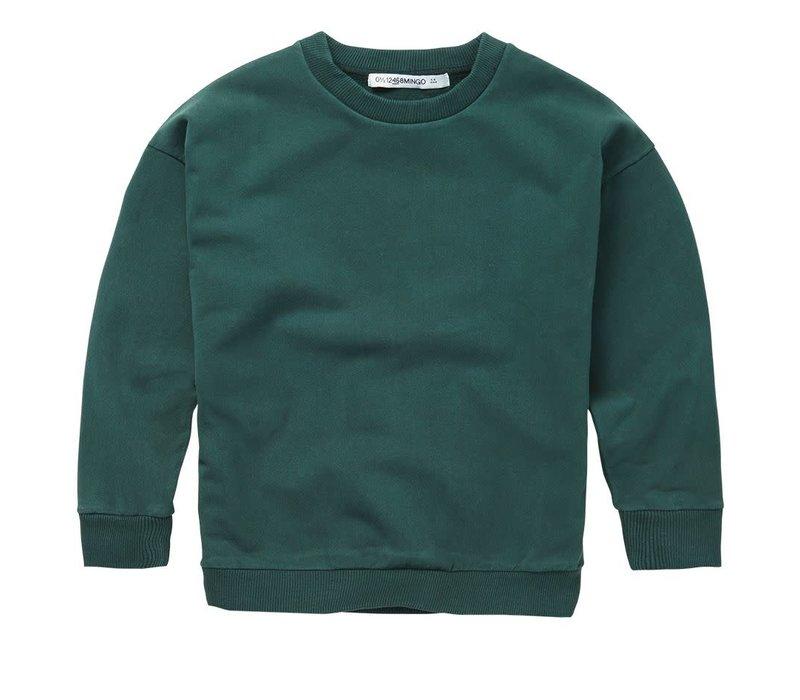 Mingo - Sweater deep emerald sweat brushed