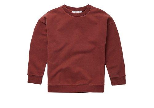 Mingo Mingo - Sweater brick red sweat brushed