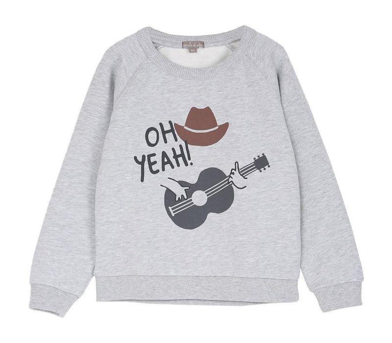 Emile et ida - Sweatshirt gris chine cowboy