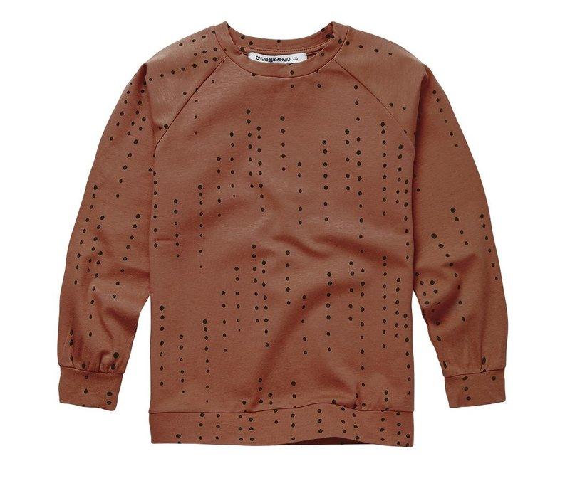 Mingo - Longsleeve dewdrops burnished leather jersey