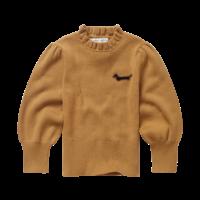 Sproet & Sprout - Sweater turtleneck ruffle mustard