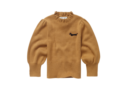 Sproet & Sprout Sproet & Sprout - Sweater turtleneck ruffle mustard
