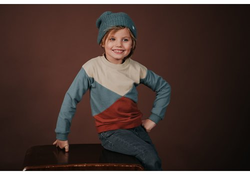 Sproet & Sprout Sproet & Sprout - Sweatshirt colour block auburn