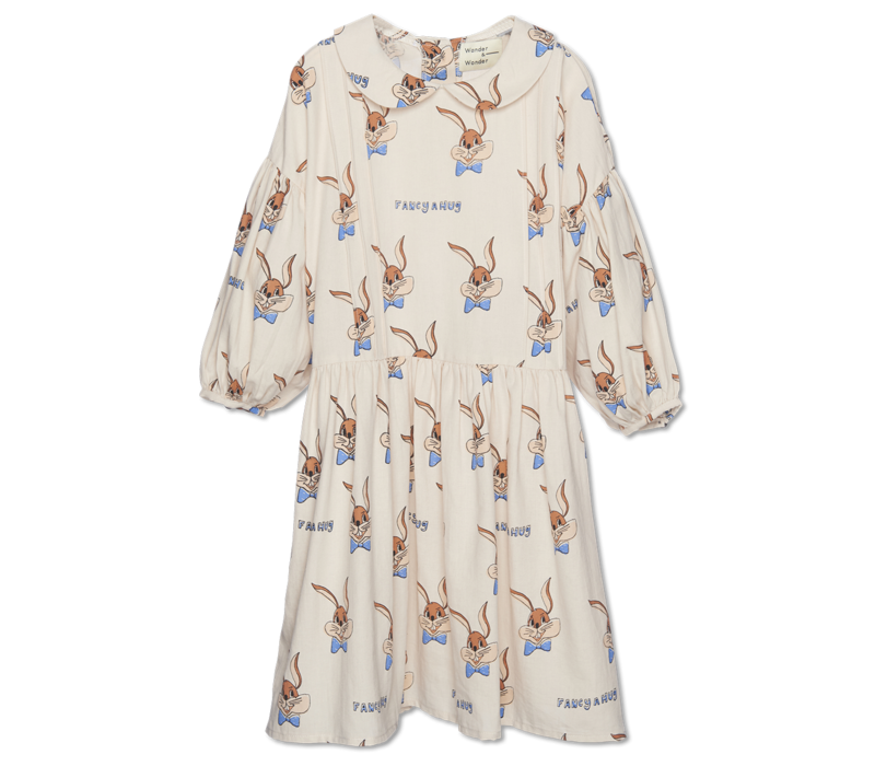 Wander&Wonder - Abigail dress ecru bunny