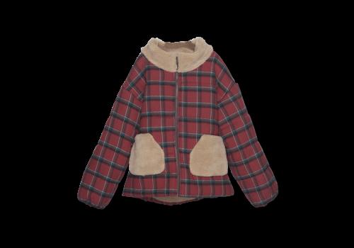 Wander & Wonder Wander&Wonder - Puffer jacket brick plaid