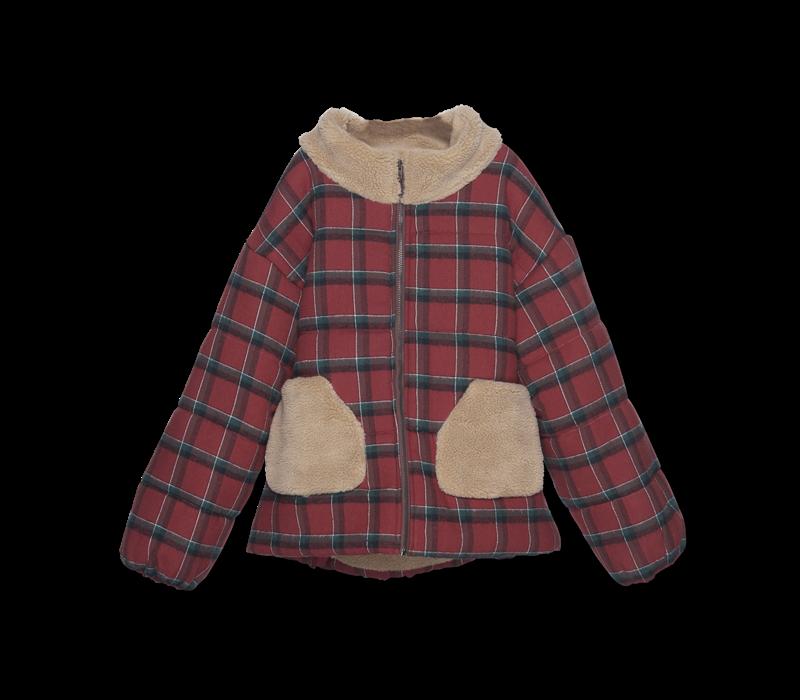 Wander&Wonder - Puffer jacket brick plaid