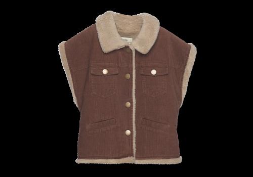Wander & Wonder Wander&Wonder - Reversible vest cinnamon cord