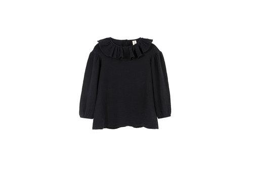 Kids on the moon Kids on the moon - Eris collar blouse black