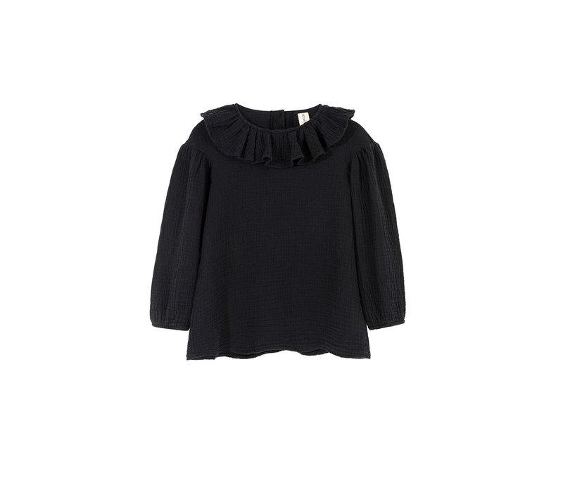 Kids on the moon - Eris collar blouse black
