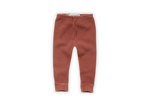 Sproet & Sprout Sproet & Sprout - Waffle legging Brick