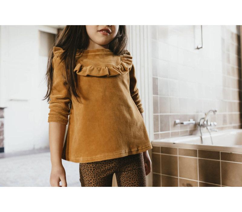 Petit blush - Ruffle top Sudan brown