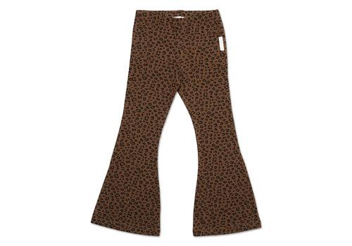 Petit Blush Petit blush - Bowie flared pants brown leopard aop