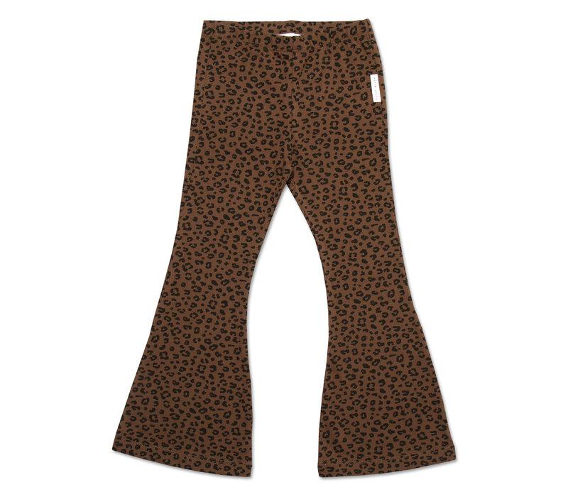 Petit blush - Bowie flared pants brown leopard aop