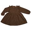 Petit Blush Petit blush - Julie ruffle dress brown leopard aop