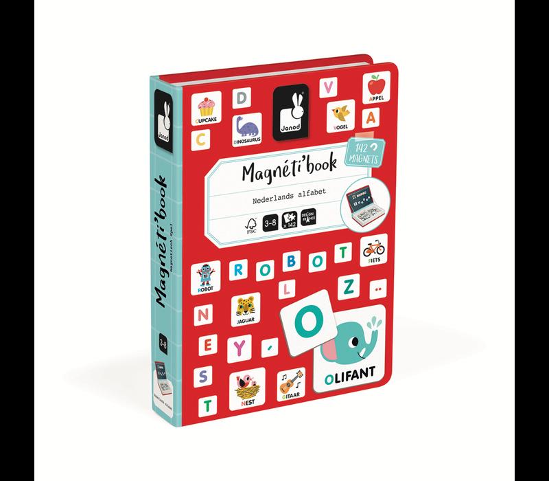 Janod - Magnetiboek - Alfabet Nederlandstalig