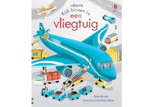 Boeken Boek - kijk binnen in een vliegtuig