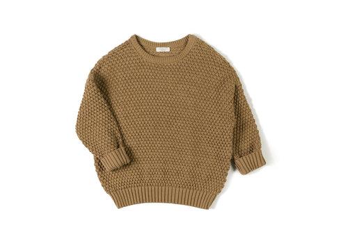 Nixnut Nixnut - Par knit sweater - Toffee - maat 98/104