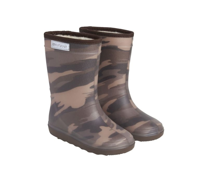 Enfant - Thermo boot Dark Olive print 9526