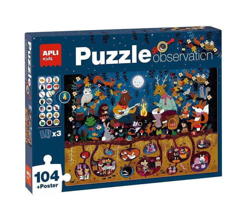APLI - Bos Observeer Puzzel 104-delig