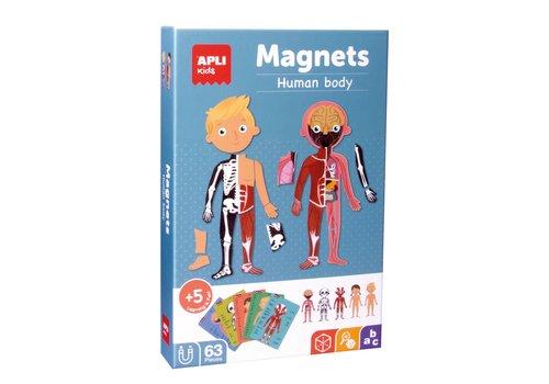 APLI APLI - Menselijk Lichaam Magneetkaart 63-delig