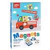APLI APLI - Voertuigen Magneetkaart (bord 28x18cm, 25 magneten)