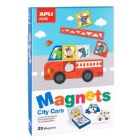 APLI - Voertuigen Magneetkaart (bord 28x18cm, 25 magneten)