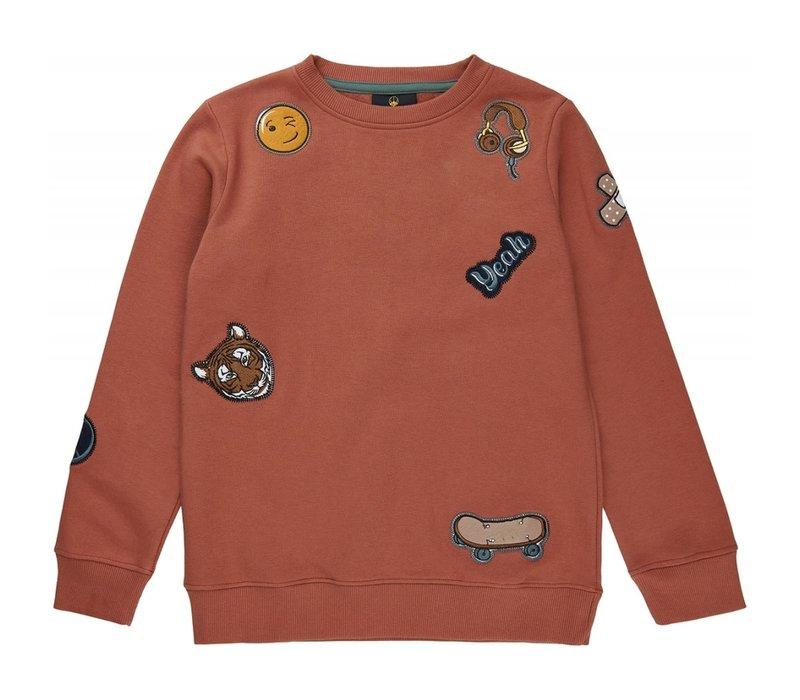 The New - Visual sweatshirt cedar wood