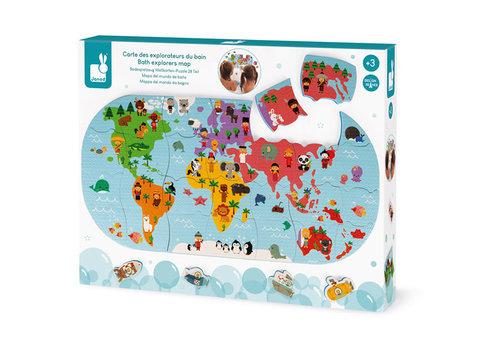 janod Janod Badspeelgoed - Wereldkaart