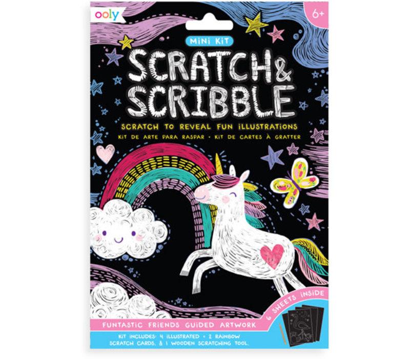 Ooly - mini scratch & scrabble Funtastic friends