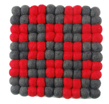 DEKORANDO - Pot Stand | Red-Graphite | Diamonds