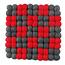 Dekorando DEKORANDO - Pot Stand | Red-Graphite | Diamonds