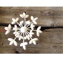 DEKORANDO - Weihnachtsdekoration | Kranzblume | Weiß