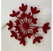 DEKORANDO - Weihnachtsdekoration | Kranzblume | rot