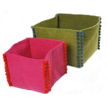 FEEL FELT Basket 22 x 22 cm Green