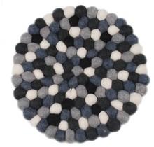 FEEL FELT Pot Stand Runder Durchmesser 18 cm Schwarz Weiß