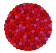 FEEL FELT Подставка для горшков, круглая диаметром 18 см Красный Оранжевый