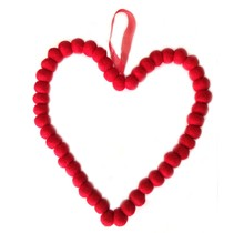DEKORANDO - Christmas decoration  - Red - Heart 20cm